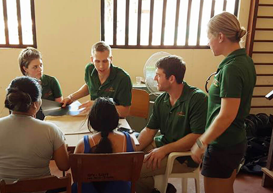 Scalpel At The Cross team members having a meeting